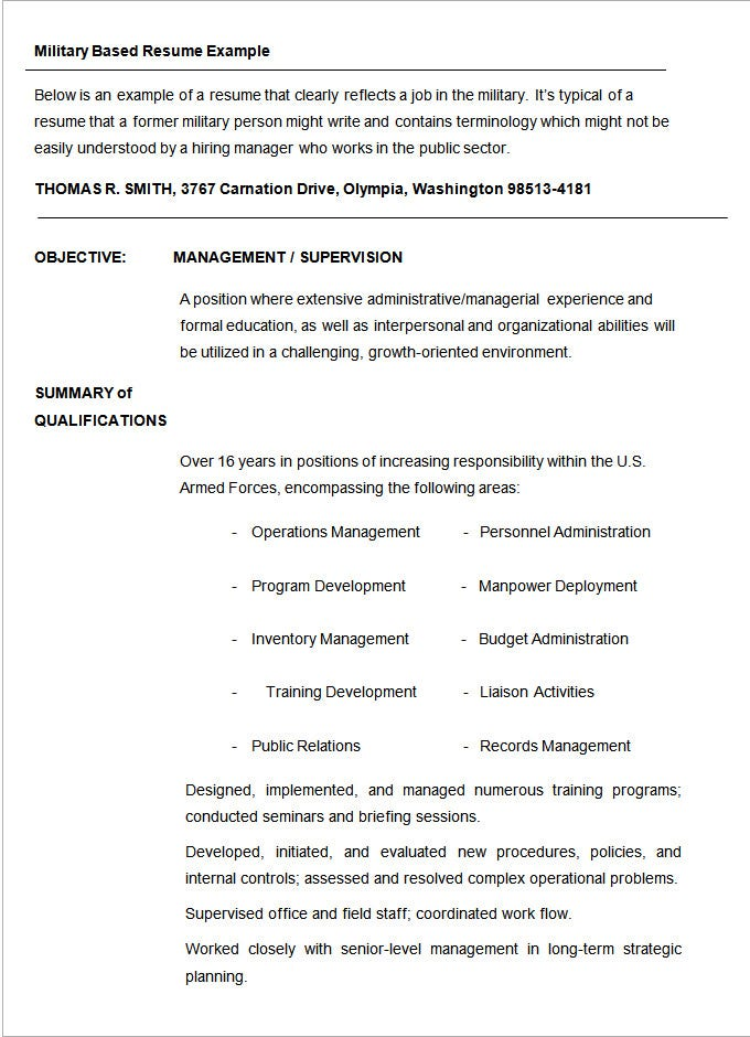resume template sample student microsoft word pdf format 2015 military
