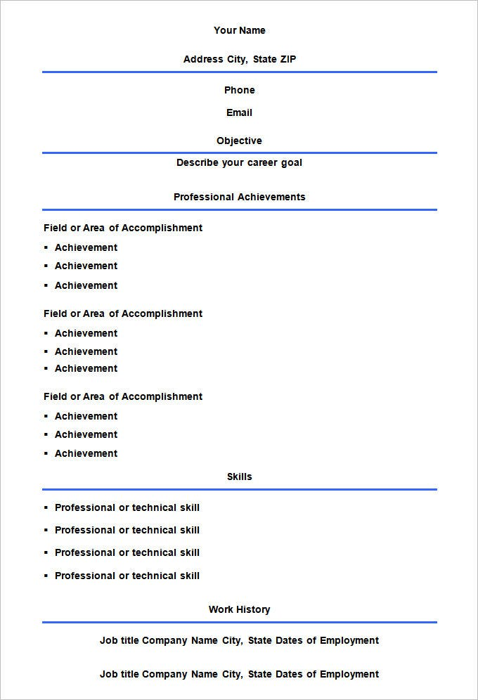Cv Resume Format Download Good Resume Format Download University