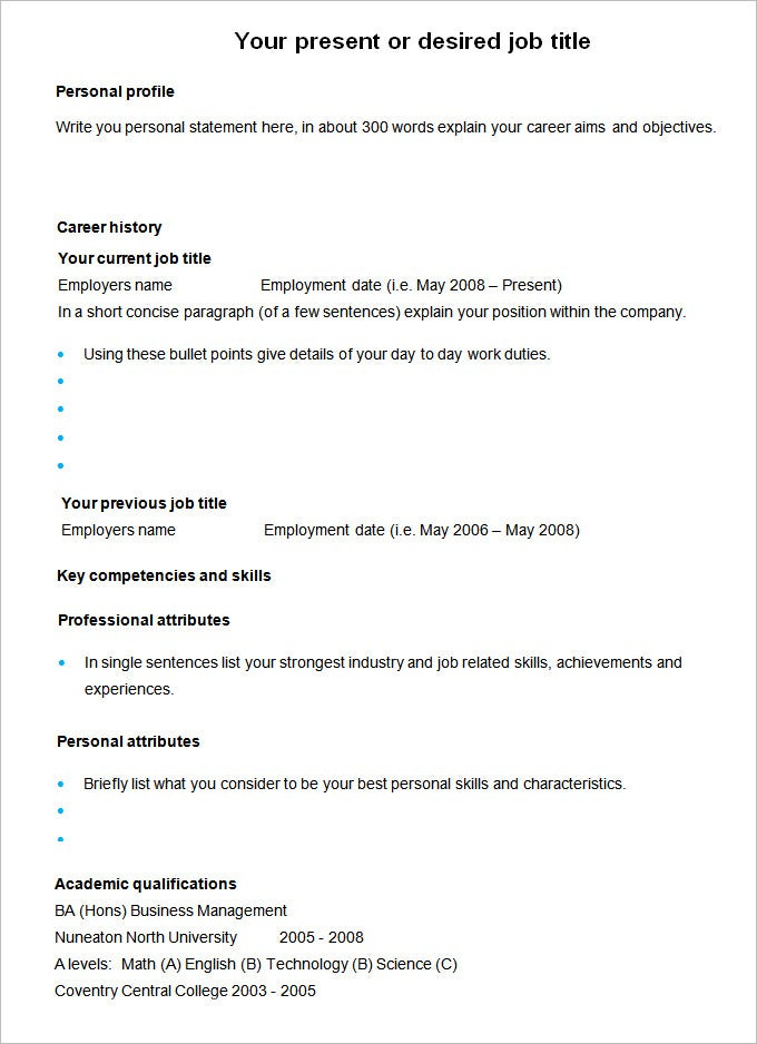 Examples Of A Professional Resume Sample Professional Resume Cv