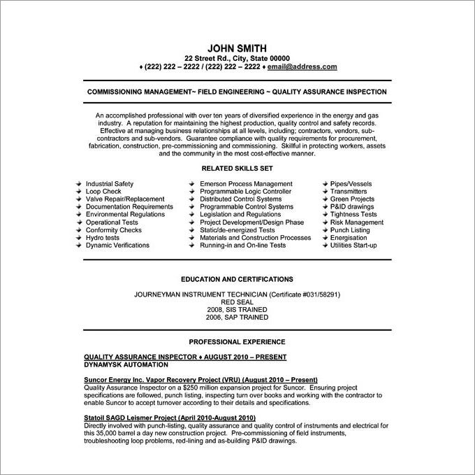 regulatory affairs resume qa qc resume sample resume cv cover letter