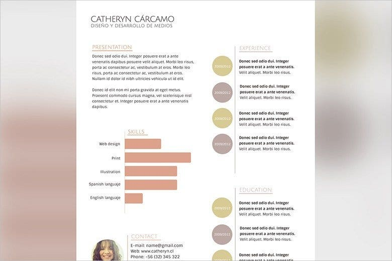 sample resume format template download