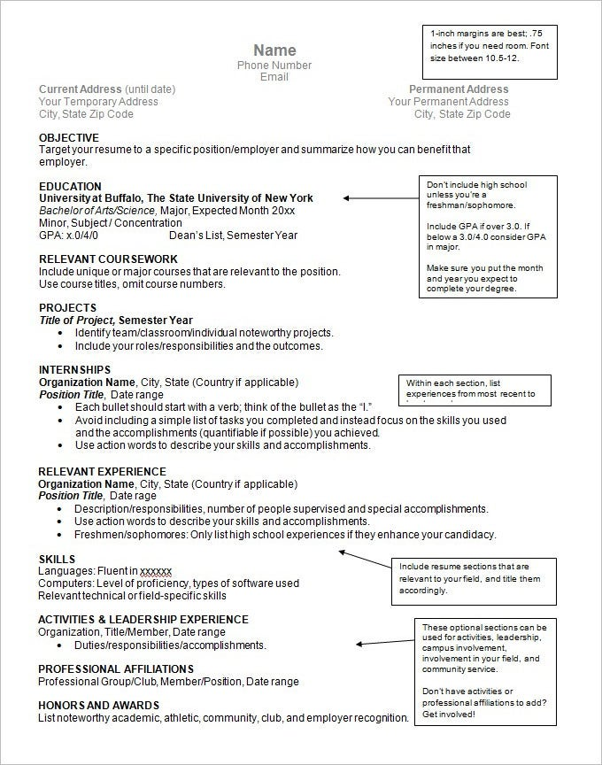 Resume Sample And Format