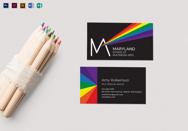 school business card template