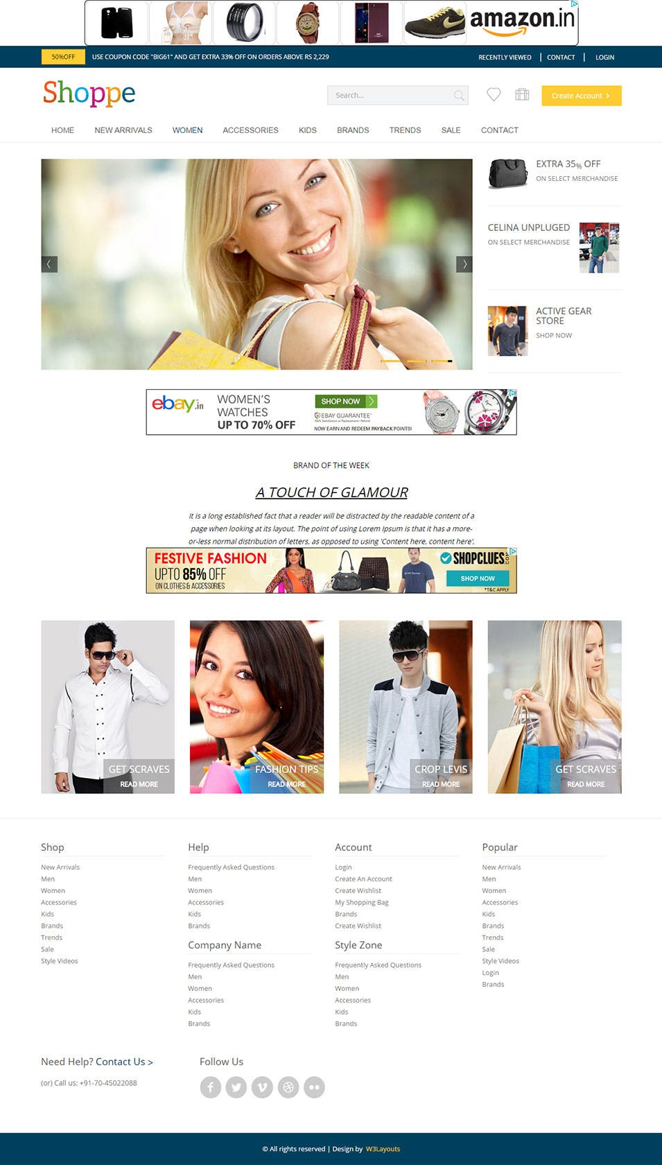 shoppe css3 theme