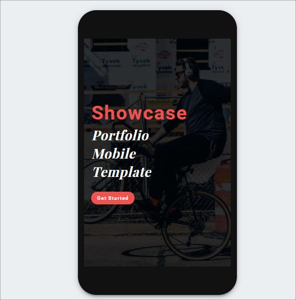 showcase portfolio mobile template
