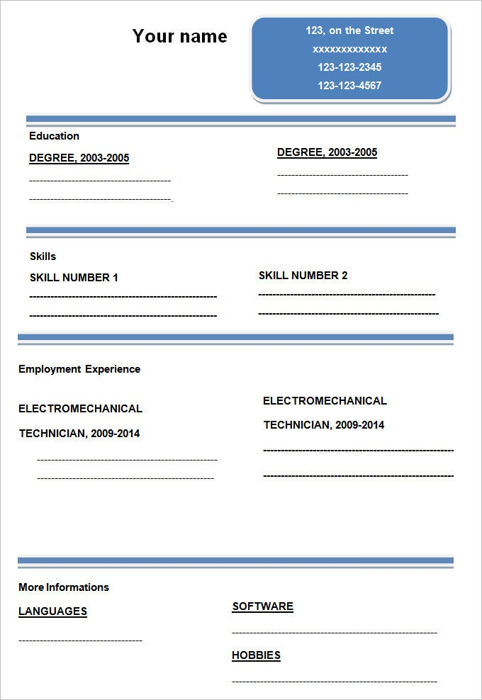 Charming Simple U0026 Elegant Blank Resume Template. Free Download