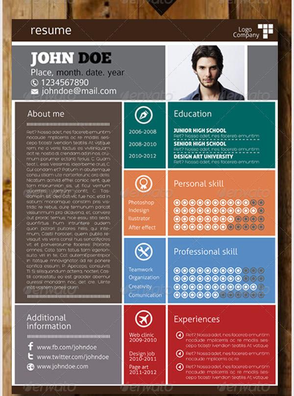 simple flat resume