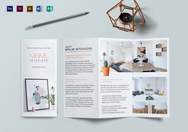 Simple Minimal Interior Brochure Template