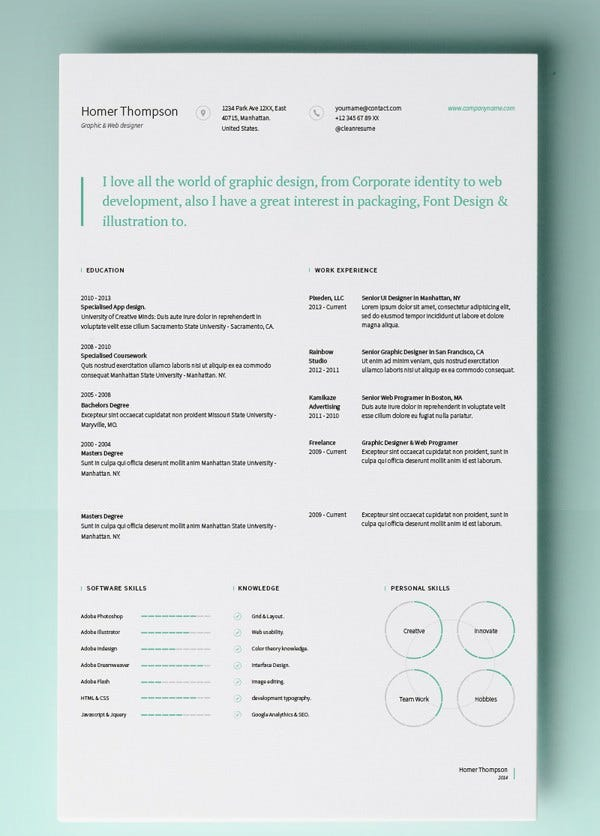 Simple Resume Template Vol5