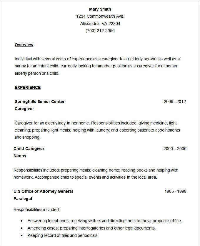 Simple Resume Office Templates Simple Resume Office Templates