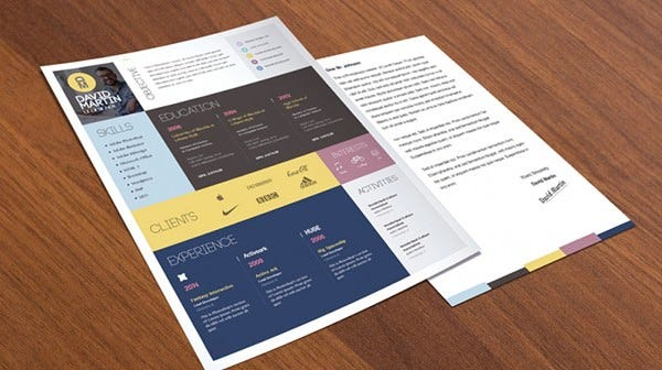 Simple and Colorful Resume