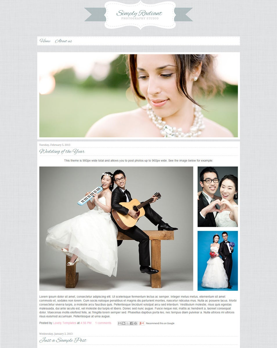 Wedding Blog Website Templates Themes Free Premium Free
