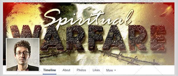 spiritual warfare facebook timeline cover template