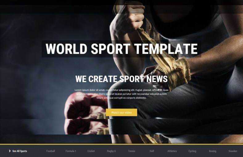 Sport News Responsive HTML5 Template