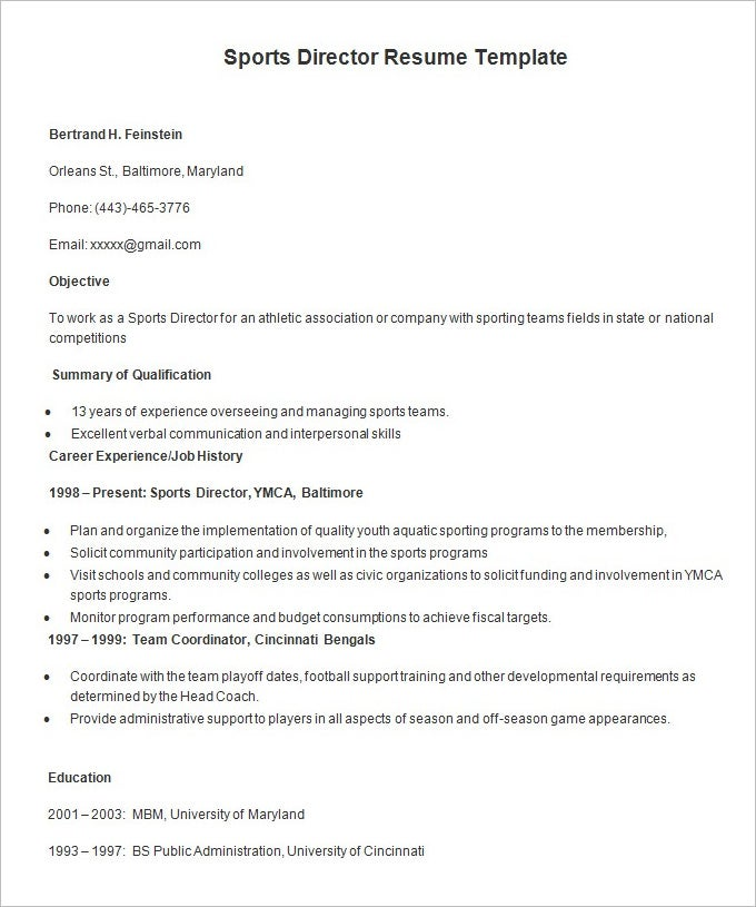 resume templates  u2013 127  free samples  examples  u0026 format download