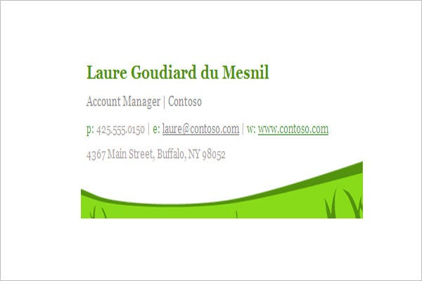 spring themed email signature templat