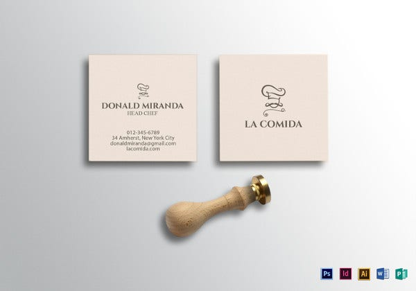 square-head-chef-business-card-template