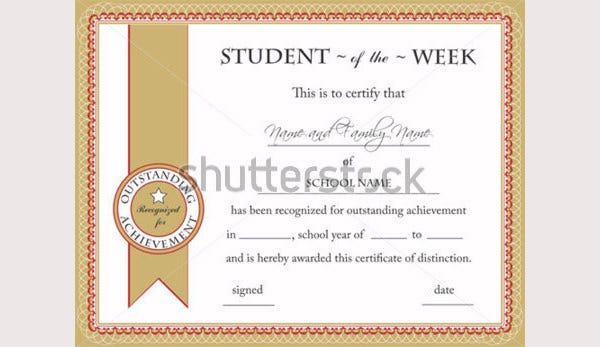 50 creative custom certificate design templates free for Student of the week certificate template free