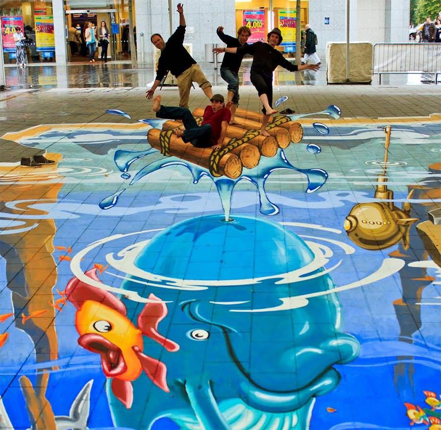 summer splash pavement art