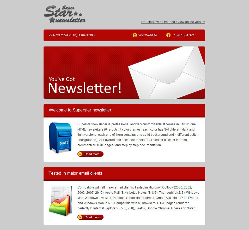 Superstar-Newsletter Sale Business Newsletter Templates on