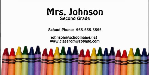 teacher crayons template business cards zazzle