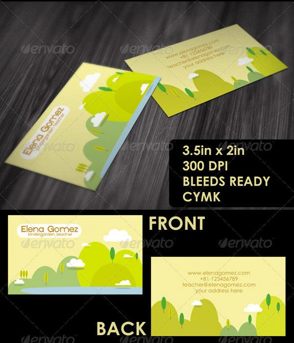 Business cards for teachers 48 free psd format download free teachers friendly business card colourmoves Images