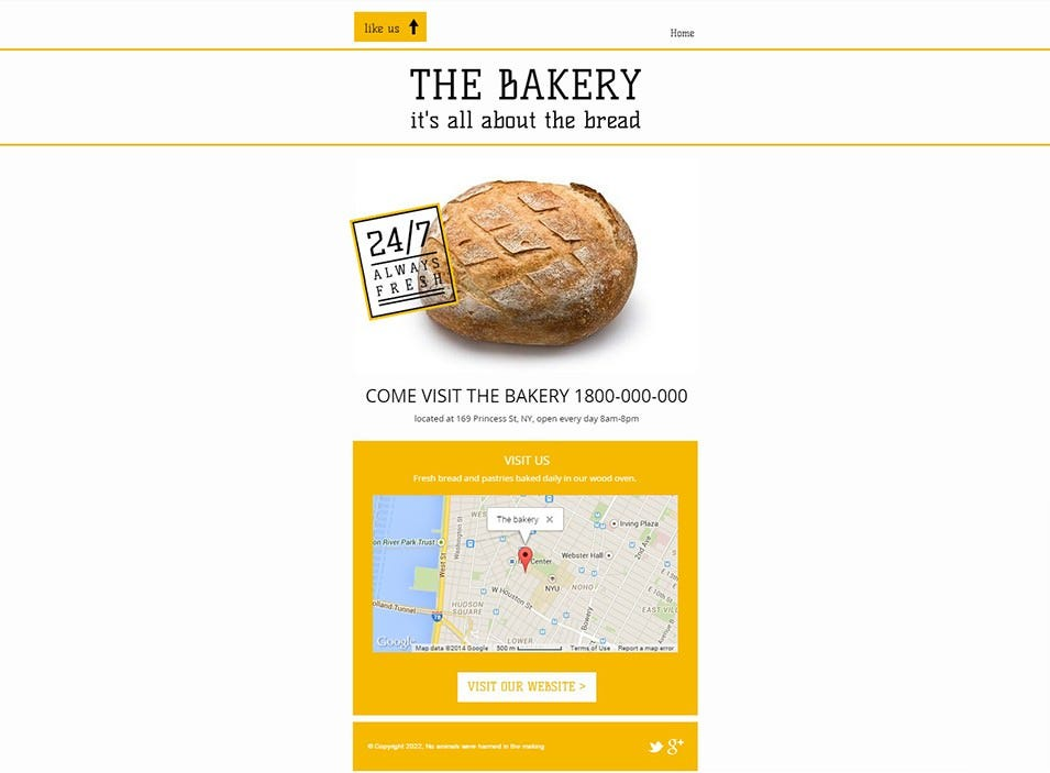 the bakery fb website template wix1