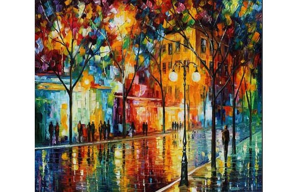 the tears of the fall palette knife oil painting on canvas by leonid afremov canvas print canvas art by leonid afremov
