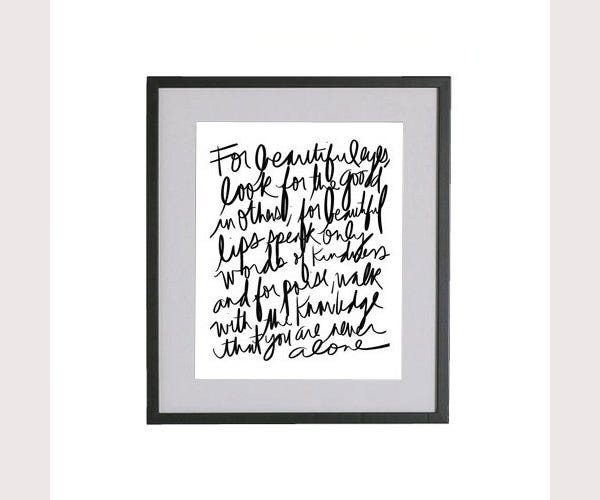 typography art printable