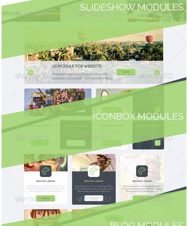 ui modules for build websites