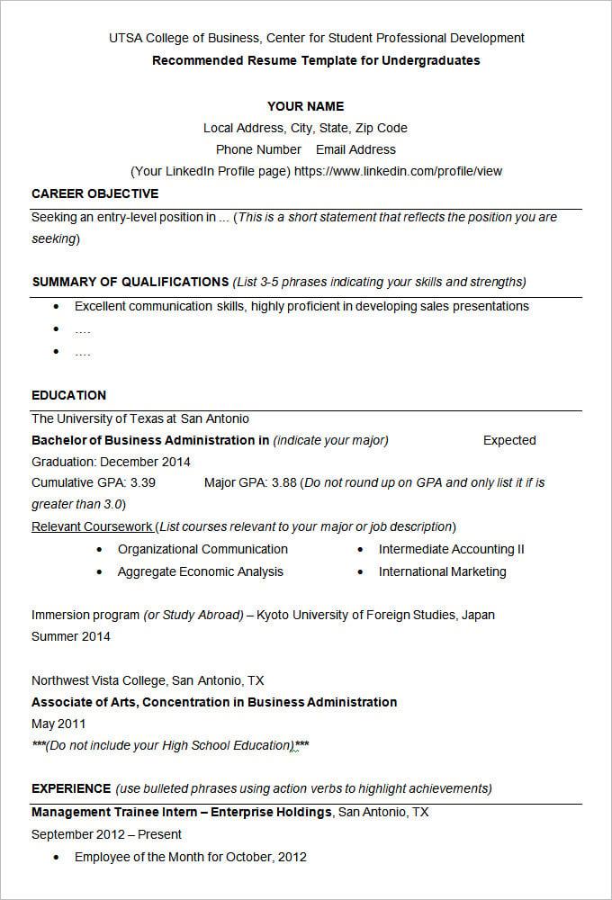 Resume Action Verbs For Teachers
