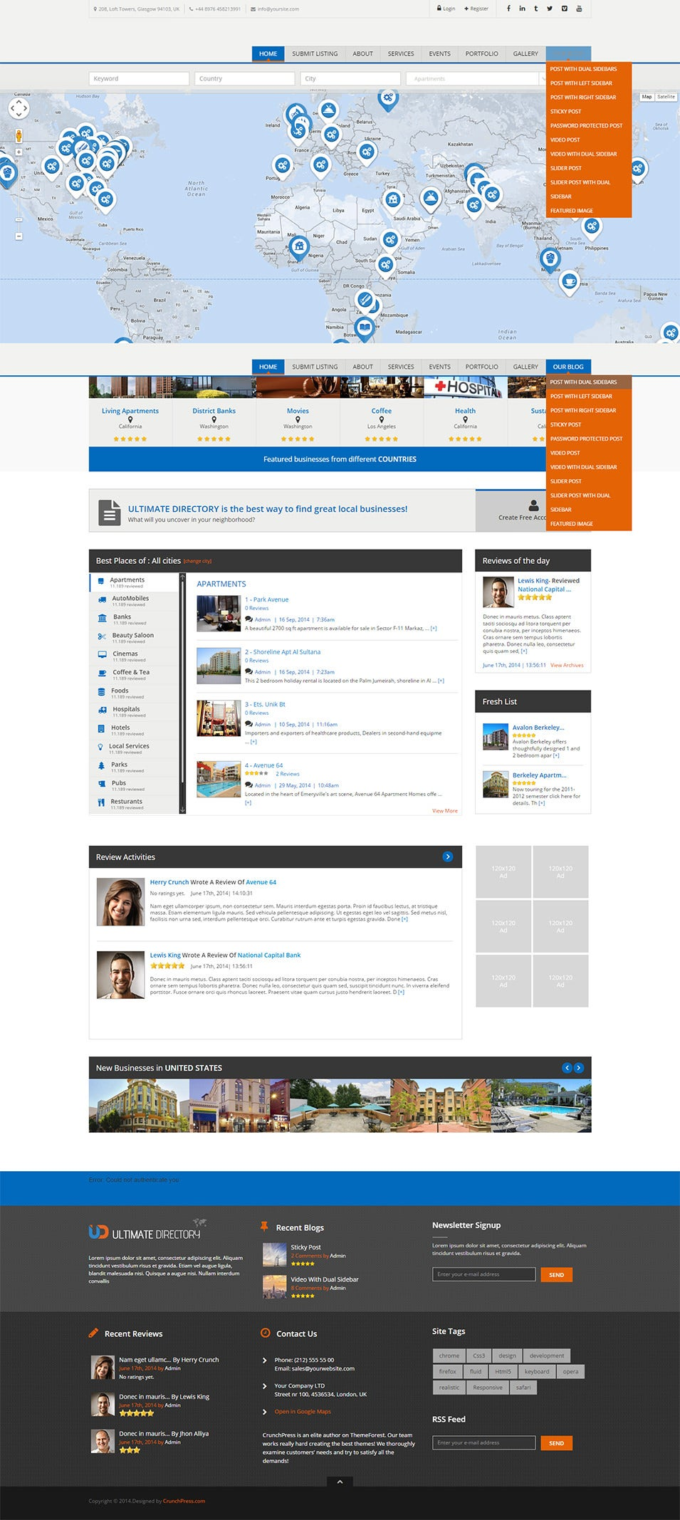 Ultimate Directory Responsive WordPress Theme