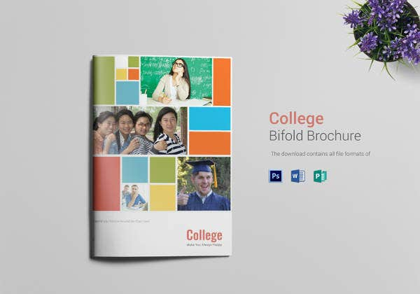 university-college-bi-fold-brochure-template