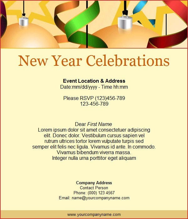 Email Invitation Template 26 Free PSD Vector EPS AI Format – New Year Invitation Template