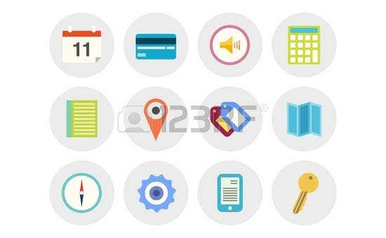 vector collection of modern icons