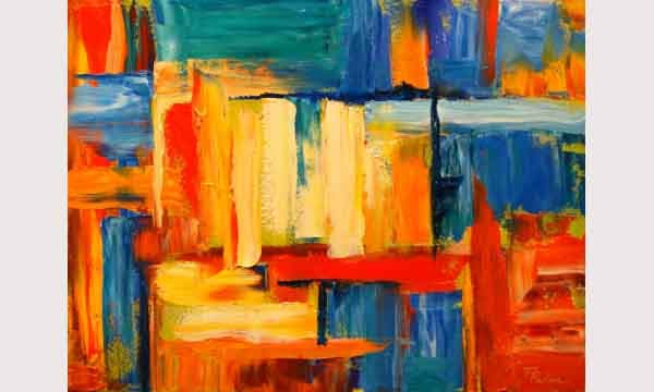Vibrant Abstract Oil Painting