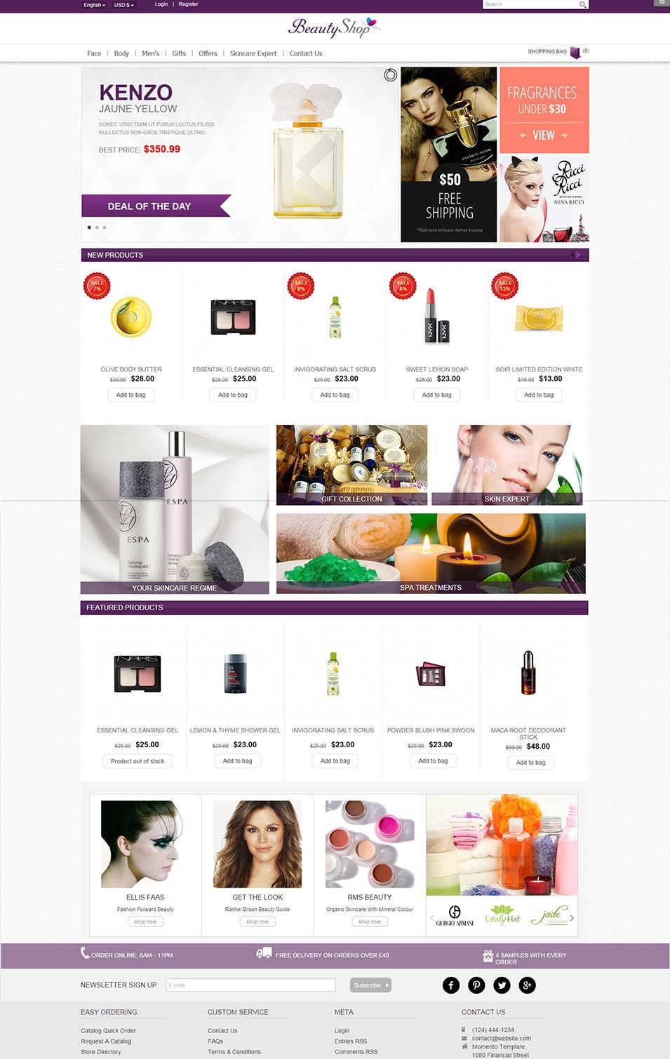 Virtuemart Beauty Shop Template