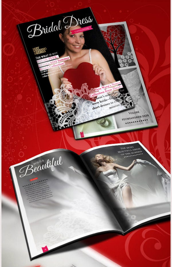 wedding dress catalogue template
