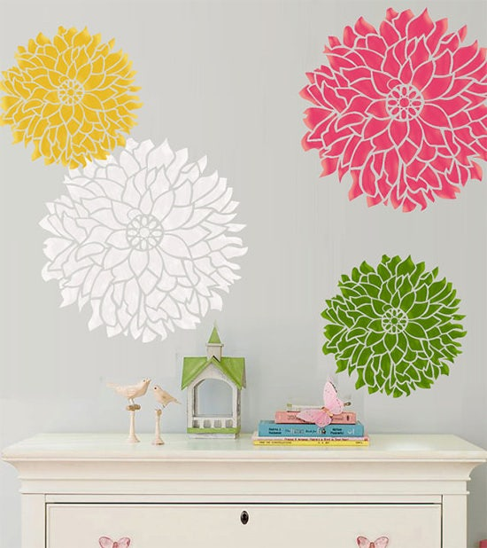 Wall paint stencils wall painting stencils free for Printable stencils for canvas painting
