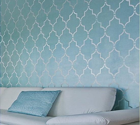 wall stencil marrakech trellis