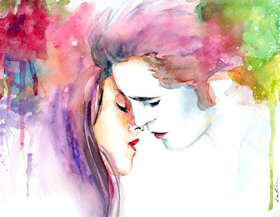 watercolor painting print