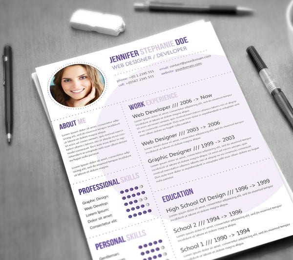put your designing skills to good use by selecting a template from this web designerdeveloper resume - Web Designer Resume Template