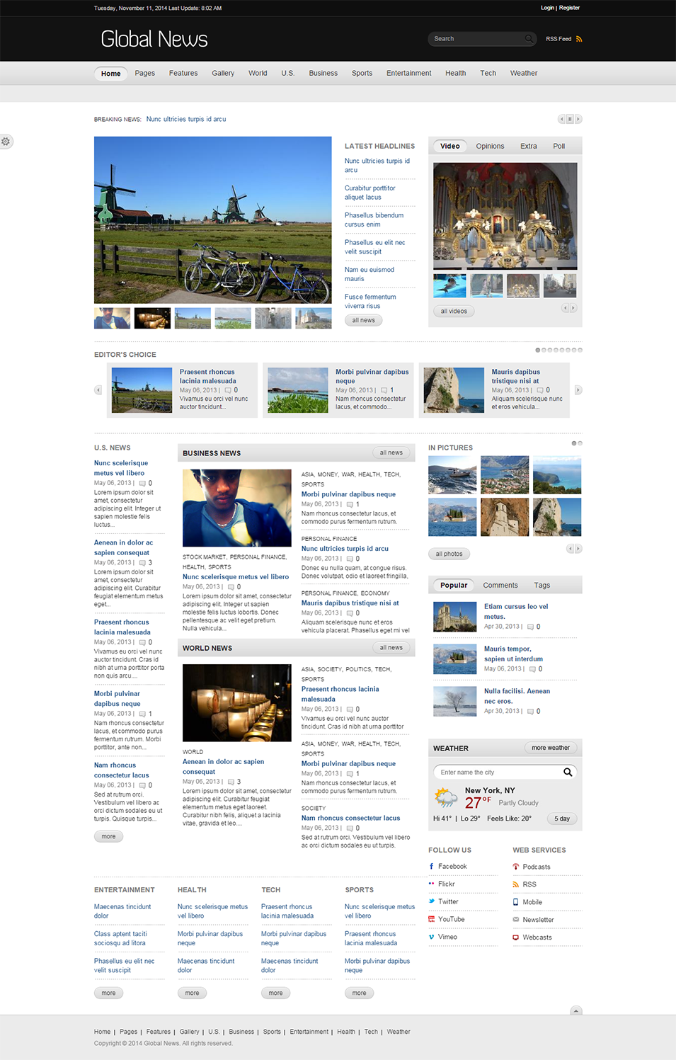 drupal news portal website templates  u0026 themes