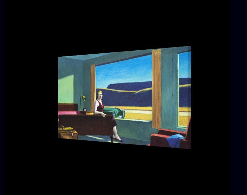 western motel by edward hopper canvas print