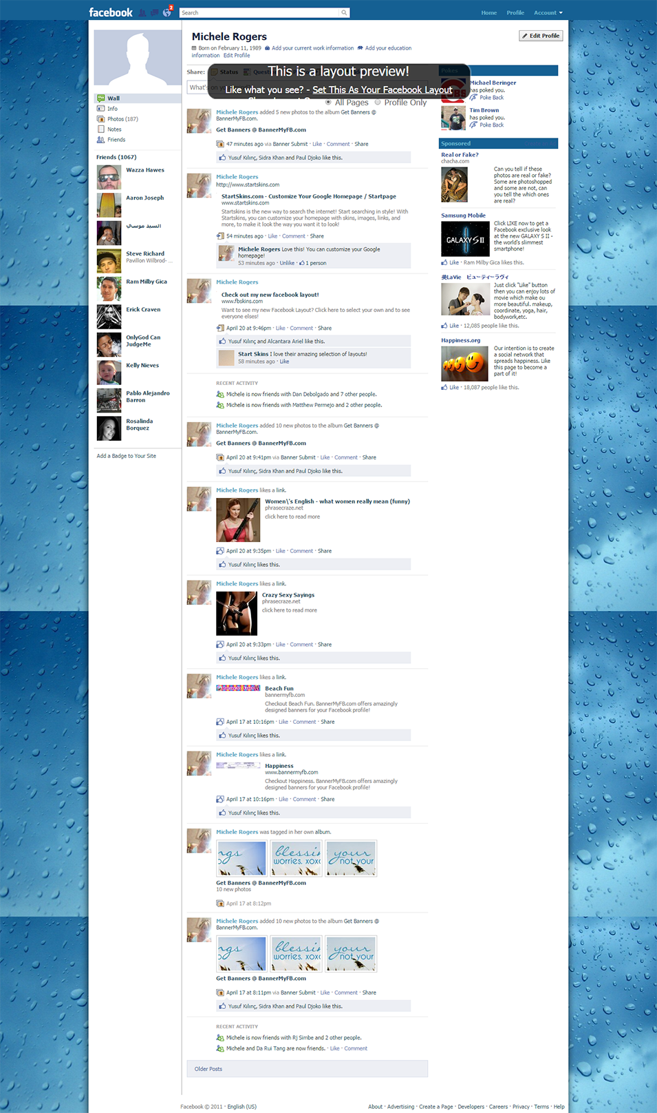 wet window facebook layout preview