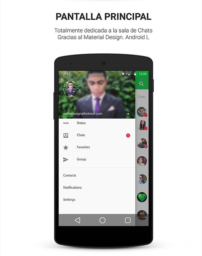 WhatsApp Material Design Google Android 5.0 Lollipop