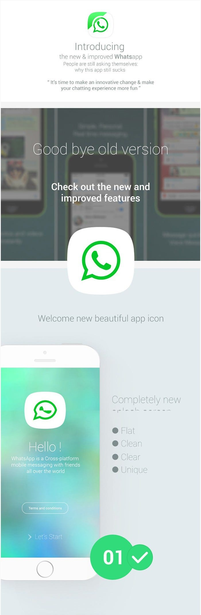whatsapp concept ios