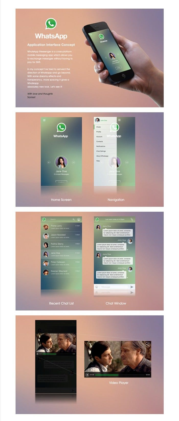 Whatsapp Layout Concept
