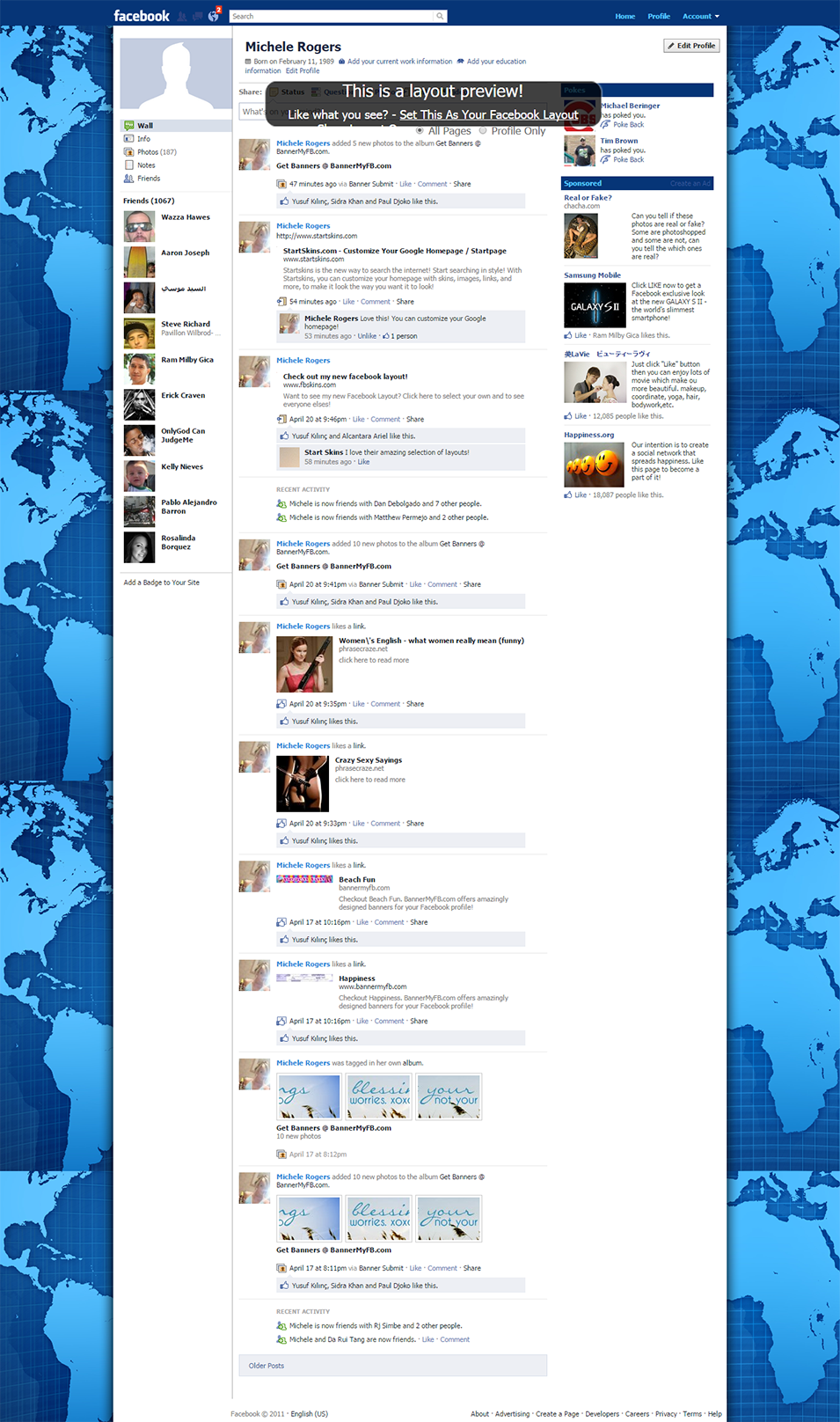 world map facebook layout preview