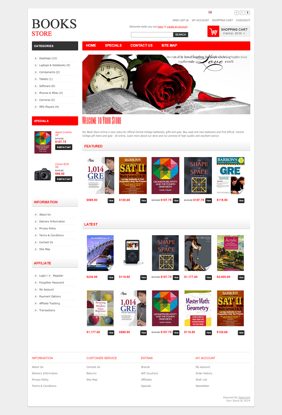 Your Store 3 Top Result 60 Inspirational Opencart Bookstore Template Gallery 2017 Phe2